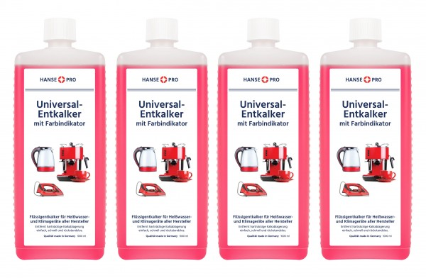 Hansepro Universal-Entkalker, 1000 ml 4er-Set