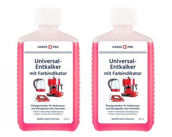Hansepro Entkalker mit Farbindikator, 250 ml 2er-Set